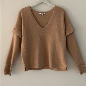 Madewell Ruffle Stitch Sweater in camel. Small $50